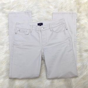 NYDJ Off White Marilyn Straight Jeans 6P